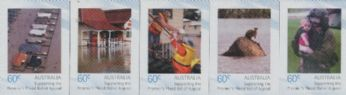 AUS SG3541-5 Premier's Flood Relief Appeal self-adhesive set of 5 from sheetlet